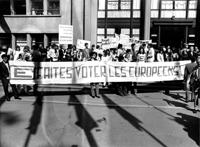 Source: Manifestation pour l'Europe. Strasbourg: Photothèque Parlement européen, 1972. Noir et blanc. Copyright: Photo Parlement européen