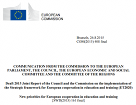 ET 2020 Draft Joint Report 2015